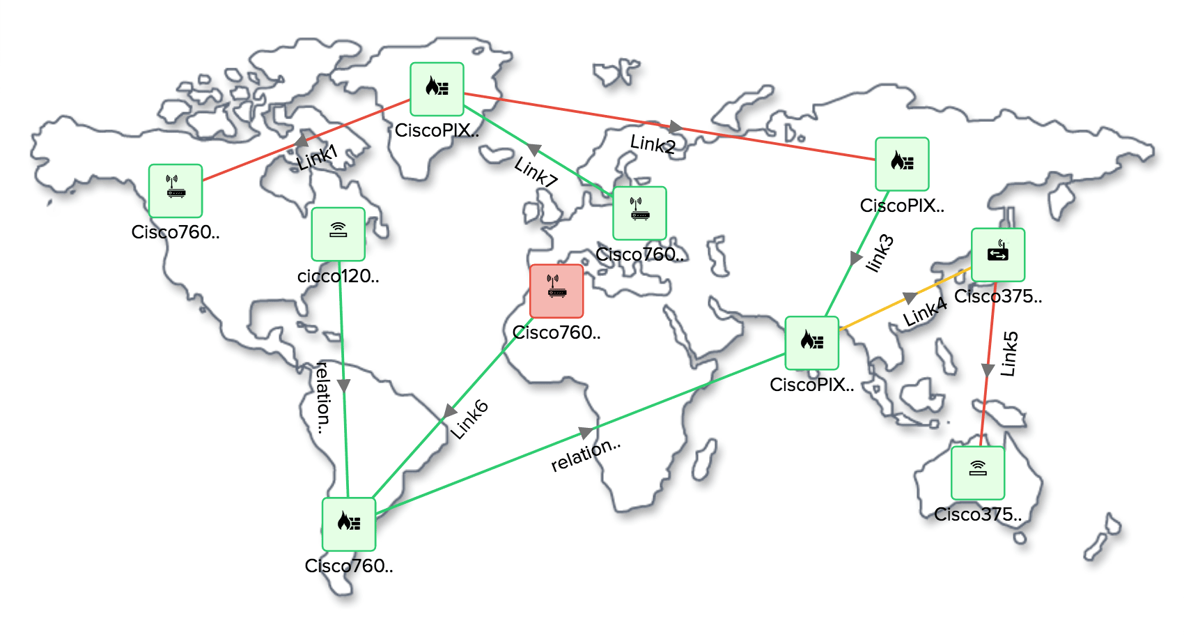 Create network schema with topology maps
