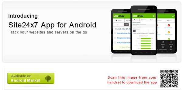 Site24x7 Android App