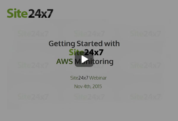 AWS Monitoring with Site24x7