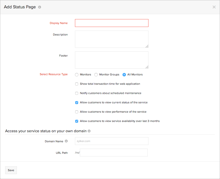 Customize Your Status Page