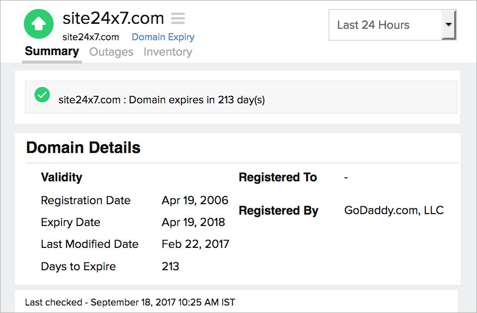 Ssltls Certificate Monitoring Site24x7