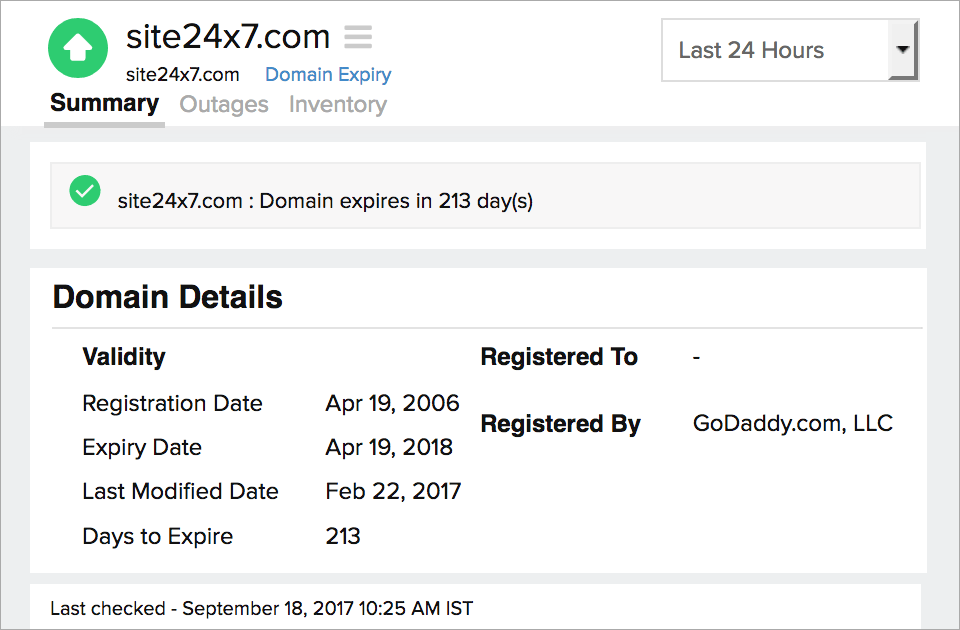 Domain Expiry Records