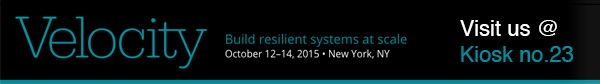 Meet us at Velocity 2015 in New York, NY