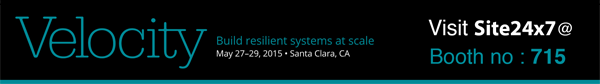 Meet us at Velocity 2015, Santa Clara, CA