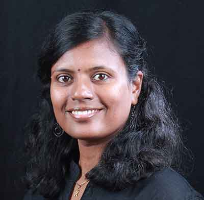 A corporate headshot of Rajalakshmi Srinivasan
