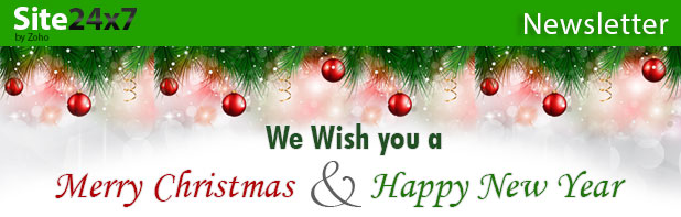 Site24x7 Wishes You Merry Christmas And Happy New Year
