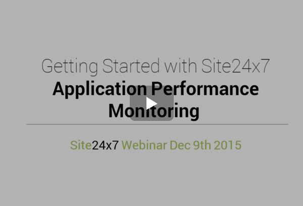 Application Performance Monitoring with Site24x7