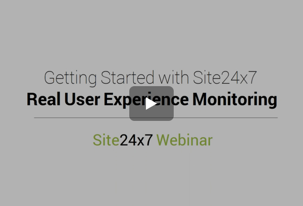 Real User Monitoring (RUM) the Site24x7 Way