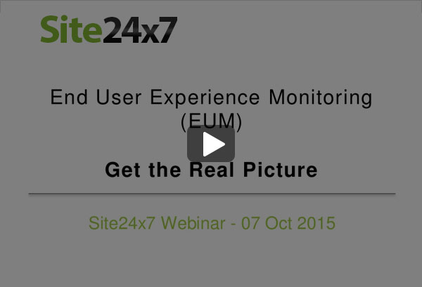 End User Experience Monitoring